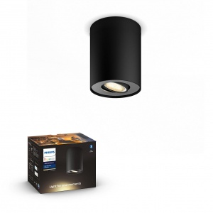 5633030P9 Pillar Hue ext. spot single spot black 1 PHILIPS HUE LAMPA NATYNKOWA Z BLUETOOTH